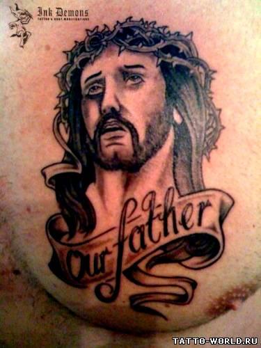 jesus-christ-tattoo,tatuirovki xrista,nakolki isusa xrista