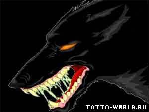 Хотя большинство тату волка