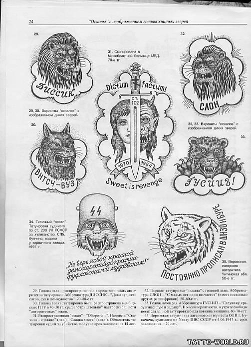 слон аббревиатура татуировка значение